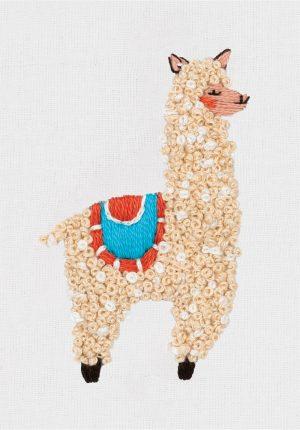 Набор для вышивания гладь Panna «Лама» JK-2201