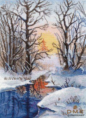 Набор для вышивания крестом Овен «Зимний ручей» ov334
