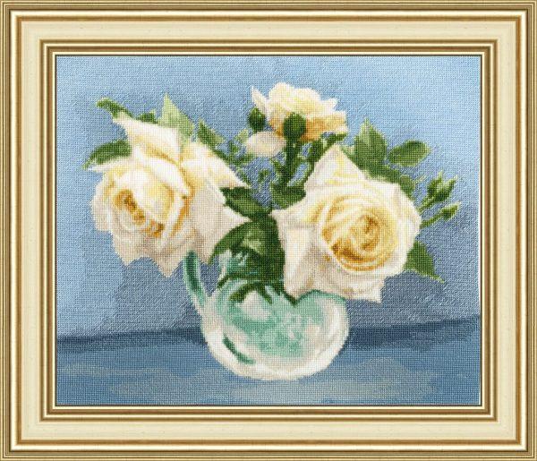 Набор для вышивания Золотое Руно «Чайные розы» ЛЦ-079