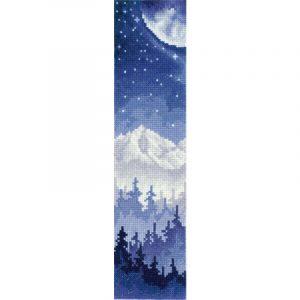 Набор для вышивания крестом Сделай своими руками. Закладка «Луна над лесом» сср.З-48