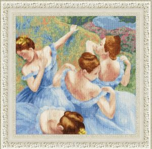 Набор для вышивания Золотое Руно «Голубые танцовщицы» МК-050