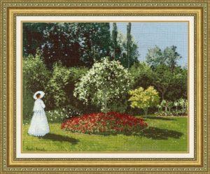 Набор для вышивания Золотое Руно «Дама в саду Сент-Адресс» МК-051