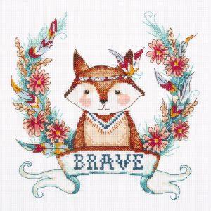 Набор для вышивания крестом Panna «Храбрый лис» J-7206