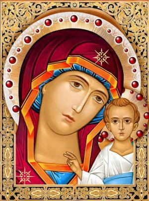 Картина стразами Алмазная Живопись «Икона Казанская Богородица» АЖ-1841