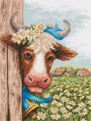 Набор для вышивания крестом Panna «В ромашках» J-7212