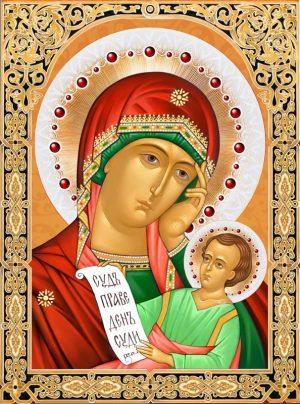 Картина стразами Алмазная Живопись «Икона Богородица утоли мои печали» АЖ-1846