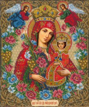 Набор для вышивания бисером Русская Искусница «Богородица неувядаемый цвет» i507