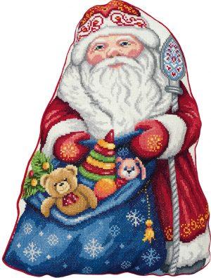 Набор для вышивания крестом Panna «Подушка. Дед Мороз» PD-7186