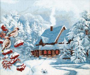 Набор для вышивки крестиком Чарiвна Мить «Морозный вечер» М-385