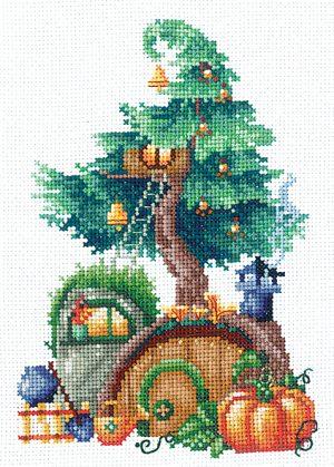 Набор для вышивания крестом Сделай своими руками «Дома на деревьях. Щедрый» Д-22