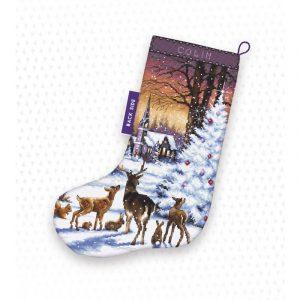 Набор для вышивания крестом Letistitch «Christmas Wood Stocking» LETI.948