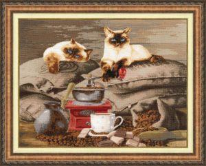 Набор для вышивания Золотое Руно «Хранители кофе» СЖ-058