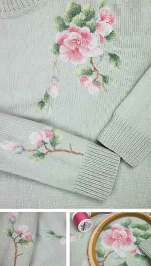 Набор для вышивания Золотое Руно «Веточка яблони» ВН-001