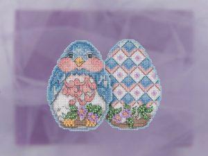 Набор для вышивания бисером MILL HILL «Синий цыпленок» JS181816