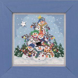 Набор для вышивания бисером MILL HILL «Груда снеговиков» MH141932
