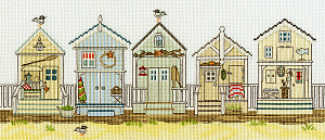 Набор для вышивания крестом Bothy Threads «NEW ENGLAND – BEACH HUTS» XSS7