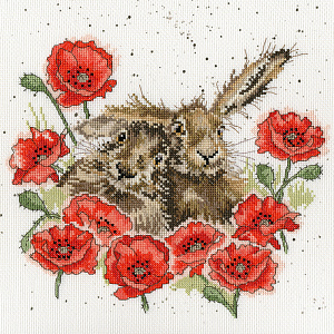 Набор для вышивания крестом Bothy Threads «LOVE IS IN THE HARE» XHD61