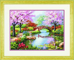 Набор для вышивки крестом Dimensions «Японский сад» DMS-70-35313