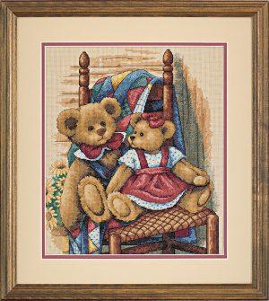 Набор для вышивки крестом Dimensions «Мишки на одеяле» DMS-35103