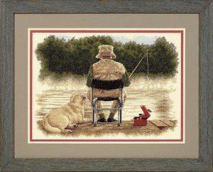Набор для вышивки крестом Dimensions «Друзья по рыбалке» DMS-35136