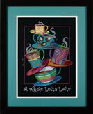 Набор для вышивки крестом Dimensions «Полные кружки с кофе-латте» арт DMS-35218