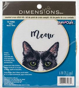 Набор для вышивки крестом Dimensions «МЯУ» DMS-72-75983