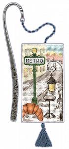 Набор для вышивания закладки Le Bonheur Des Dames «Marque page metro parisien» 4616