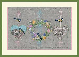 Набор для вышивания крестом Le Bonheur Des Dames «Coeurs de printemps» 1158