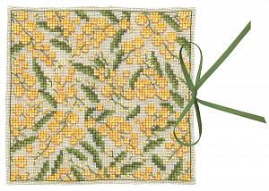 Набор для вышивания чехла для игл Le Bonheur Des Dames «Étui a aiguilles mimosas» 3471