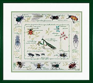Набор для вышивания крестом Le Bonheur Des Dames «Les insectes» арт. 1192
