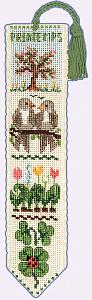 Набор для вышивания закладки Le Bonheur Des Dames «Marque page printemps» 4532