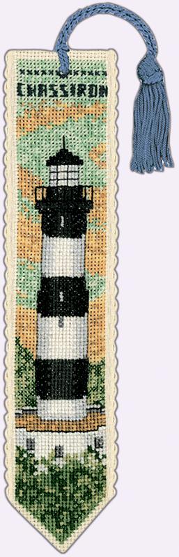 Набор для вышивания закладки Le Bonheur Des Dames «Marque page chassiron» 4546