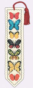 Набор для вышивания закладки Le Bonheur Des Dames «Marque page les papillons» 4542