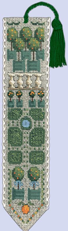 Набор для вышивания закладки Le Bonheur Des Dames «Marque page orangerie» 4527