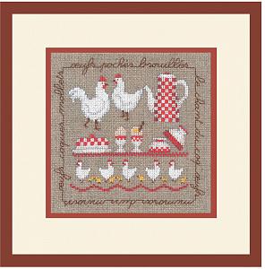 Набор для вышивания крестом Le Bonheur Des Dames «Les poules» 2256