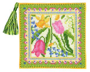 Набор для вышивания чехла для игл Le Bonheur Des Dames «Pique aiguille printemps» 3452