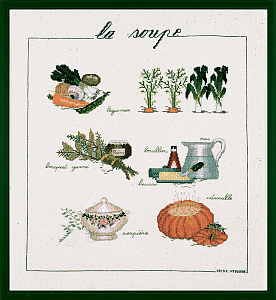 Набор для вышивания крестом Le Bonheur Des Dames «Soupe» 1180