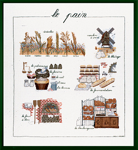 Набор для вышивания крестом Le Bonheur Des Dames «Le pain» арт. 1185