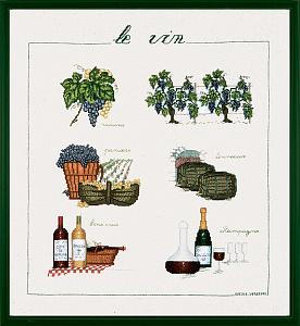 Набор для вышивания крестом Le Bonheur Des Dames «Vin» арт. 1181