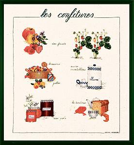 Набор для вышивания крестом Le Bonheur Des Dames «Confiture» арт. 1182