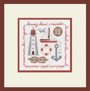 Набор для вышивания крестом Le Bonheur Des Dames «Hissez haut rouge» 2255