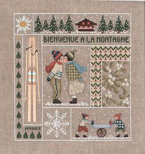 Набор для вышивания крестом Le Bonheur Des Dames «Bienvenue janvier» 2650