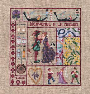 Набор для вышивания крестом Le Bonheur Des Dames «Bienvenue fevrier» 2651