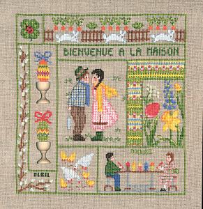 Набор для вышивания крестом Le Bonheur Des Dames «Bienvenue avril» 2653