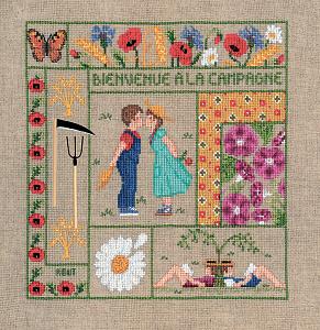 Набор для вышивания крестом Le Bonheur Des Dames «Bienvenue aout» 2657