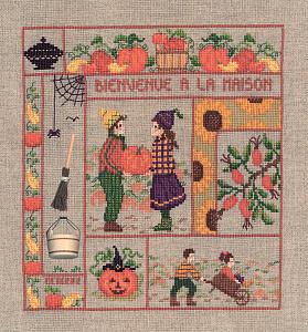 Набор для вышивания крестом Le Bonheur Des Dames «Bienvenue octobre» 2659