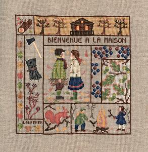 Набор для вышивания крестом Le Bonheur Des Dames «Bienvenue novembre» 2660
