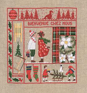Набор для вышивания крестом Le Bonheur Des Dames «Bienvenue decembre» 2661