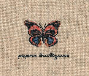 Набор для вышивания крестом Le Bonheur Des Dames «Papillon prepona buckleyana» 3629