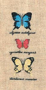 Набор для вышивания крестом Le Bonheur Des Dames «Papillons: ulysses autolycus, cymothoe sangaris, dardanus» 3627
